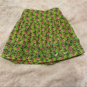 FINAL PRICE Hartstrings green floral skirt